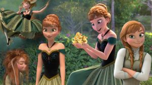 Frozen - 1366x768 (Anna) by CoGraphiC