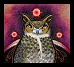 Great Horned Owl as Totem by Ravenari
