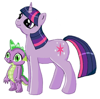 Twilight Sparkle And Spike! by Deathdog3000