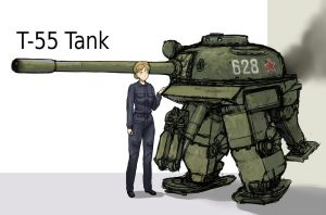 T-55 Tank style Powered exoskeleton. by QU-RO-QURO