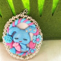 Cotton Candy Bunny Clay Cameo by AndyGlamasaurus