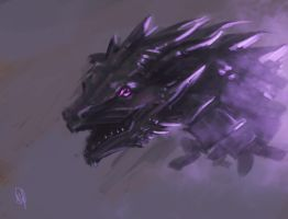 Purple Dragon Speedpainting by stefanoscuccimarra