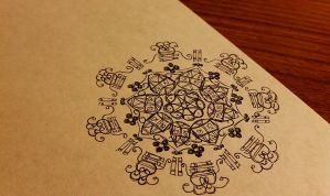 Mandala doodle by meathive