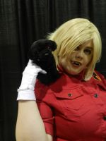 LevelUp 2014 Seras Victoria and hell puppy by Demon-Lord-Cosplay