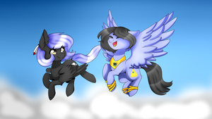 Eigii and Cloudy  by OhHoneyBee