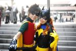 Robin and Batgirl by fuuyukida
