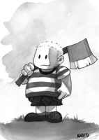 Pugsley Addams by Katie-O