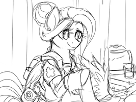 Draft 1 - Fluttershy (concept) by Lionel23
