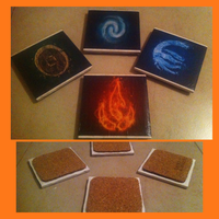 Avatar Inspired Tile Coasters by Raychull7