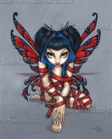 Red Ribbon Fairy by jasminetoad