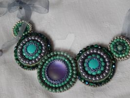 Necklace 'Mentha' by SilverLineBeads