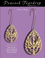 PeacockTeardrop Earrings by inception8-Resource