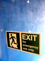 exit sign by smevstock