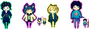 Pixel Babies - Commissions (CLOSED) by ms-villeroy