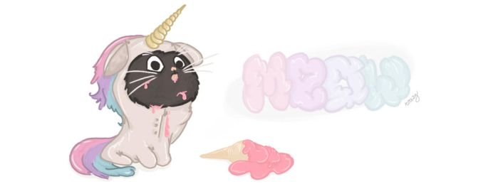 Meow Im A Unicorn - Banner by itsrozee