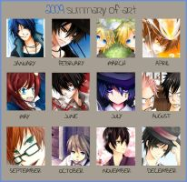 2009 Summary of Art :P by Shumijin