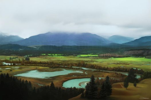 Landscape Painting Tutorial by damie-m