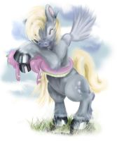 Derpy hugging Spark by EleanorAnsell
