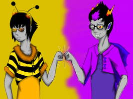 eridan and sollux bro pound COMISSION by rubygaara01