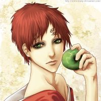 Gaara and an apple by Lenap
