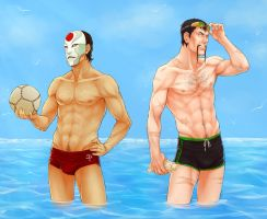 Even bad guys need a vacation by frostious