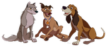Trio of Toons by Nollaig