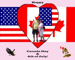 Happy Canada Day + 4th of July by Moonravin