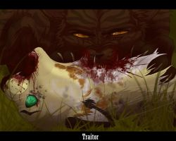Redtails death  *BLOOD*  - SPEEDPAINT - by Espenfluss