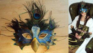 peacock-mask by Ermelyn