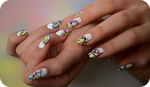 watercolor nail art by Tartofraises