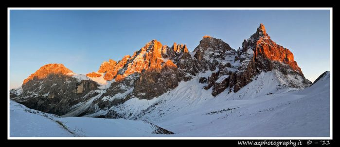 Sunset on dolomites by zaffonato