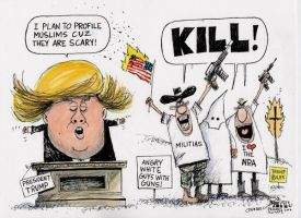 Cartoon Of The Day 6-21-16 - Trump Muslim Ban by H4Grimms
