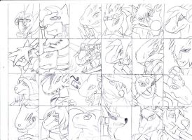 24 characters by all-of-anthro