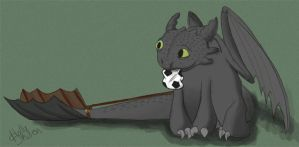 Toothless can't play fetch.. by Hollii303
