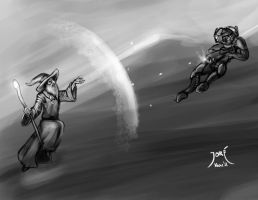 Wizard Vs Geth by ElJore