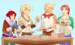 Eclair Express: Men with Cupcakes by arcanium