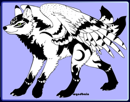 Tranquil the Darkness and Light Wolf by PiccoloFreakNamick