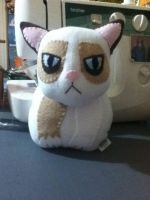 Grumpy Cat Plushie by Saint-Angel
