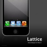 Lattice wallpaper for iPhone 4 by infopower