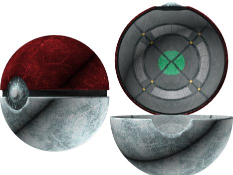 Roughed Up Pokeball by Male-Gardevoir