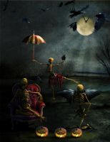 Skeletons Night Off by TheFantaSim