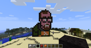 Gordon Freeman in Minecraft by branduboga