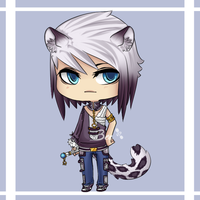 Snow Leopard Chibi Version by BeesHoneypot