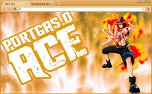 One Piece Chrome Theme: Portgas D. Ace by yohohotralala