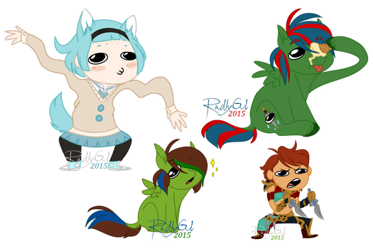 Character Derp Batch #1! by RadleyGL