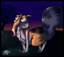 Fluffy Scrat at darky Sunset X3 by MrsEmmyJ