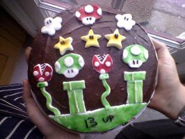 Mario Cake XD by sharmz