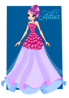 Winx: Altair Floral Dress by DragonShinyFlame
