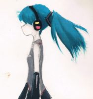 Coloring test - Miku by AnnRosalyn