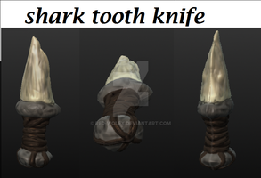 Shark Tooth Knife by Red-Wolfx